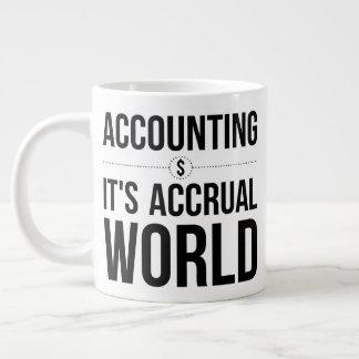Grande Tasse La comptabilité il est monde d'accumulation -