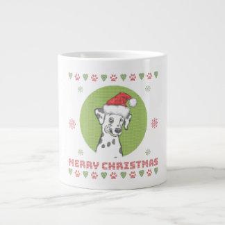 Grande Tasse Motif de Knit de Joyeux Noël de Dalmation