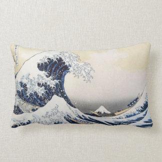 Grande vague outre de Kanagawa par Hokusai Coussin Rectangle