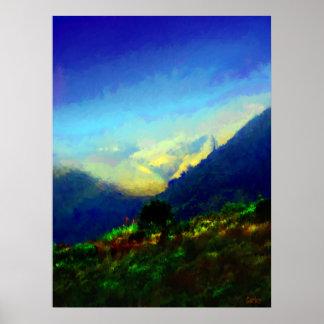 Grandes collines de Sur Poster