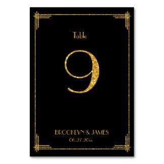 Grandes paillettes d'or du numéro 9 de Tableau
