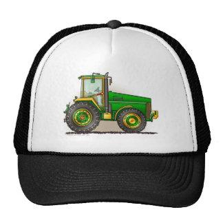 Grands chapeaux verts de tracteur casquette de camionneur