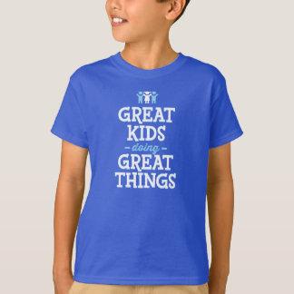 Grands enfants faisant de grandes choses t-shirt