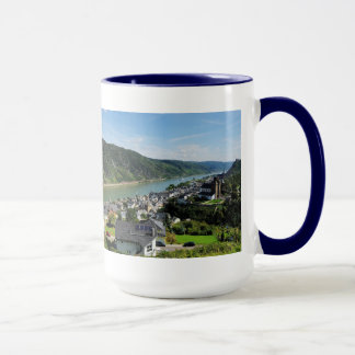 Grands lutteurs tasse bleu Oberwesel Rhin