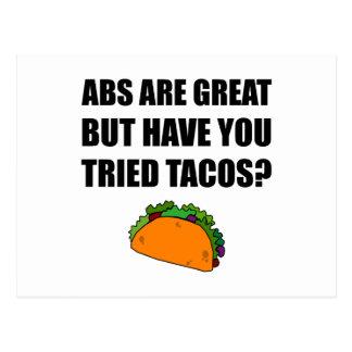 Grands tacos éprouvés d'ABS Carte Postale