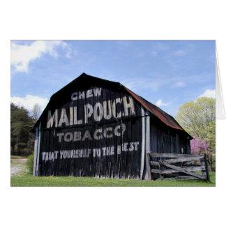 Grange de poche de courrier carte de vœux