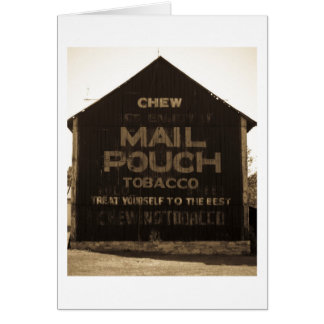 Grange de tabac de poche de courrier de carte de vœux