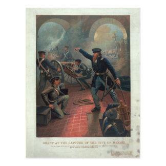 Grant à la capture de la ville du Mexique Leutze Carte Postale
