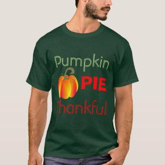 Graphique automnal drôle reconnaissant de tarte de t-shirt