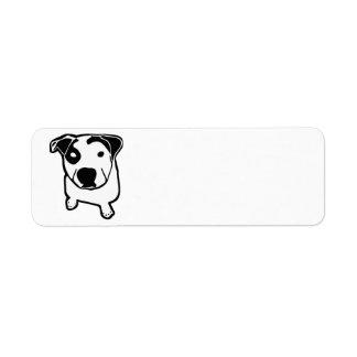 Graphique d'à l'os de pitbull étiquette d'adresse retour