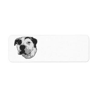 Graphique d'à l'os de pitbull étiquettes d'adresse retour