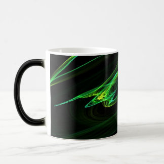 Graphique d'abrégé sur regard de malachite mug magique
