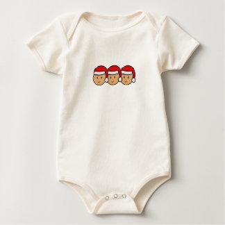 Graphique de casquette de Père Noël de triplets Body