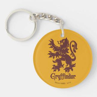 Graphique de lion de Harry Potter   Gryffindor Porte-clé Rond En Acrylique Double Face