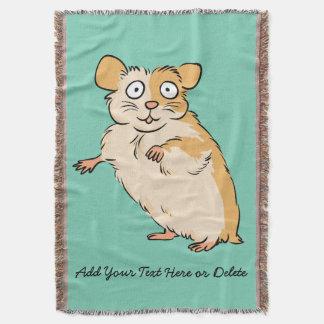 Graphique fait sur commande mignon de hamster couvre pied de lit