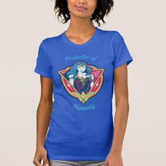 Graphique tricolore de femme de merveille t-shirt