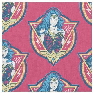 Graphique tricolore de femme de merveille tissu