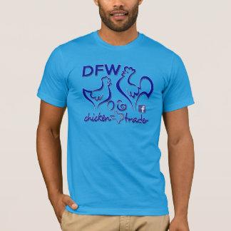 Graphiques de bleu de commerçant/cobalt de poulet t-shirt