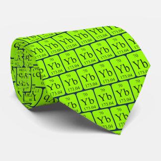 Graphiques transparents de cravate de ytterbium de