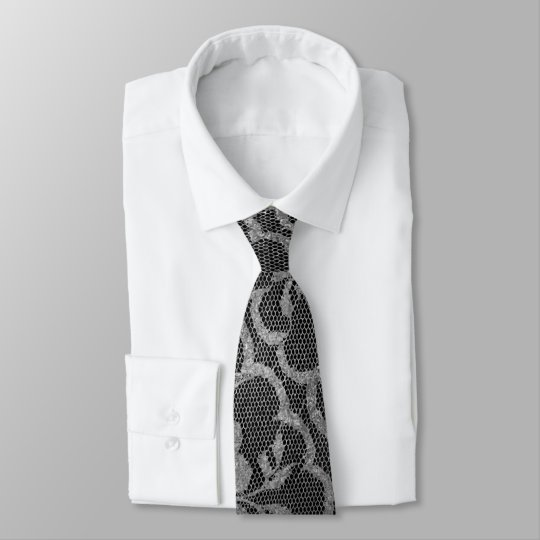 Graphite royal moderne de gris argenté de noir de cravate