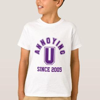 Grappig het Lastige u Paarse T-shirt van het