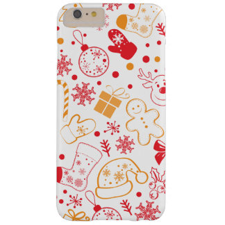 Grappig Kleurrijk Patroon Christmassy Barely There iPhone 6 Plus Hoesje