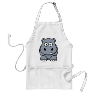 Grappig nijlpaard standaard schort