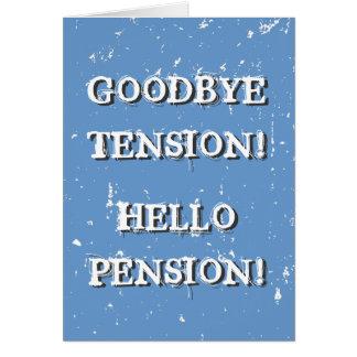 Grappig pensioneringswenskaart voor teruggetrokken briefkaarten 0
