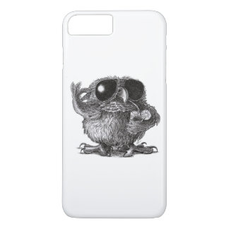 Grappige Dierlijke Koele Uil iPhone 7 Plus Hoesje