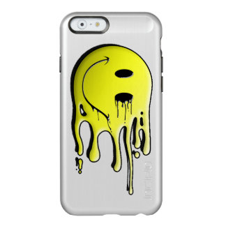 grappige gele smileyvlek incipio feather® shine iPhone 6 hoesje