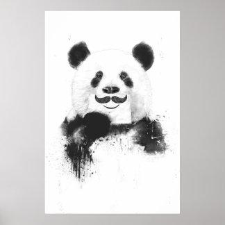 Grappige panda poster