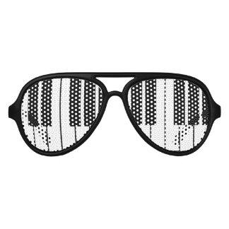 Grappige zwart-witte de partijschaduwen van aviator zonnebril