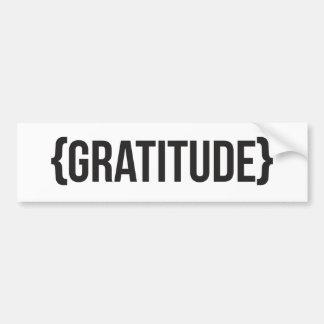 Gratitude - encadrée - noire et blanche autocollant de voiture
