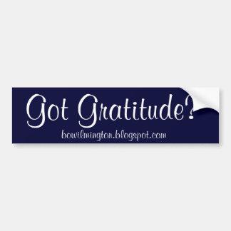 Gratitude obtenue ? , bowilmington.blogspot.com autocollant de voiture