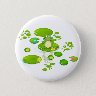 Grenouille Badge Rond 5 Cm