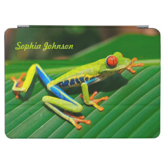 Grenouille d'arbre tropicale customisée de vert de protection iPad air