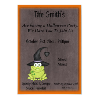 Grenouille de Halloween Carton D'invitation 12,7 Cm X 17,78 Cm