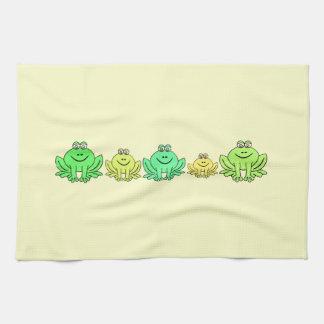 Grenouilles ! serviettes éponge