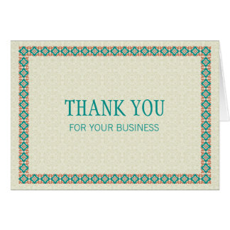 Grenzen & Patronen 3 danken u voor Uw Zaken Briefkaarten 0