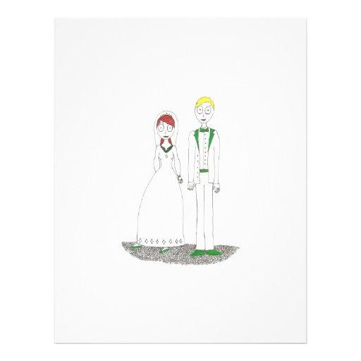 Griezelig Huwelijk het Iers Folder Ontwerp