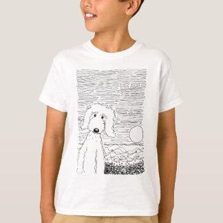 Griffonnage d'or sur la plage t-shirt