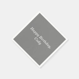 Grijs personaliseerde Alle Beschikbare Servetten Papieren Servet