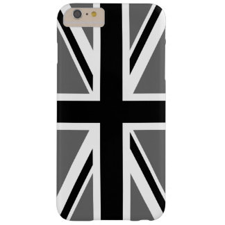 Grijs Zwart-wit Union Jack Barely There iPhone 6 Plus Hoesje