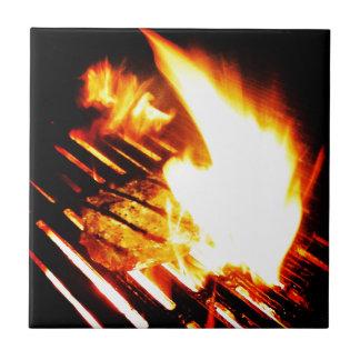 Griller le bifteck carreau