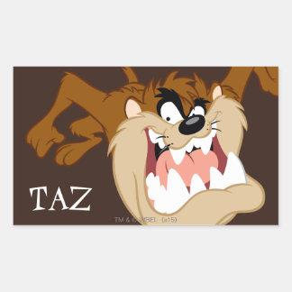 Grimace de mal de TAZ™ Sticker Rectangulaire