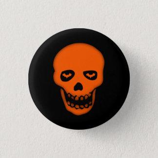 Grimacerie de l'insigne de Goth de crâne de batte Badge Rond 2,50 Cm