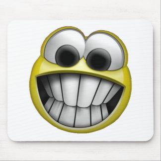 Grimacerie du visage souriant heureux tapis de souris