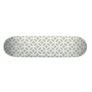 Gris argenté géométrique skateboard 19,7 cm