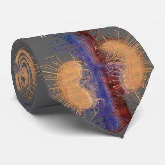 Gris Artsy unique de conception de rein de cravate