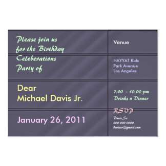 Gris bleu de luxe de satin avec le texte témoin carton d'invitation  12,7 cm x 17,78 cm
